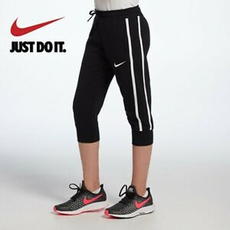 Nike Sportswear Big Kids' Girls' Capris Pants Black White size Large 14-16