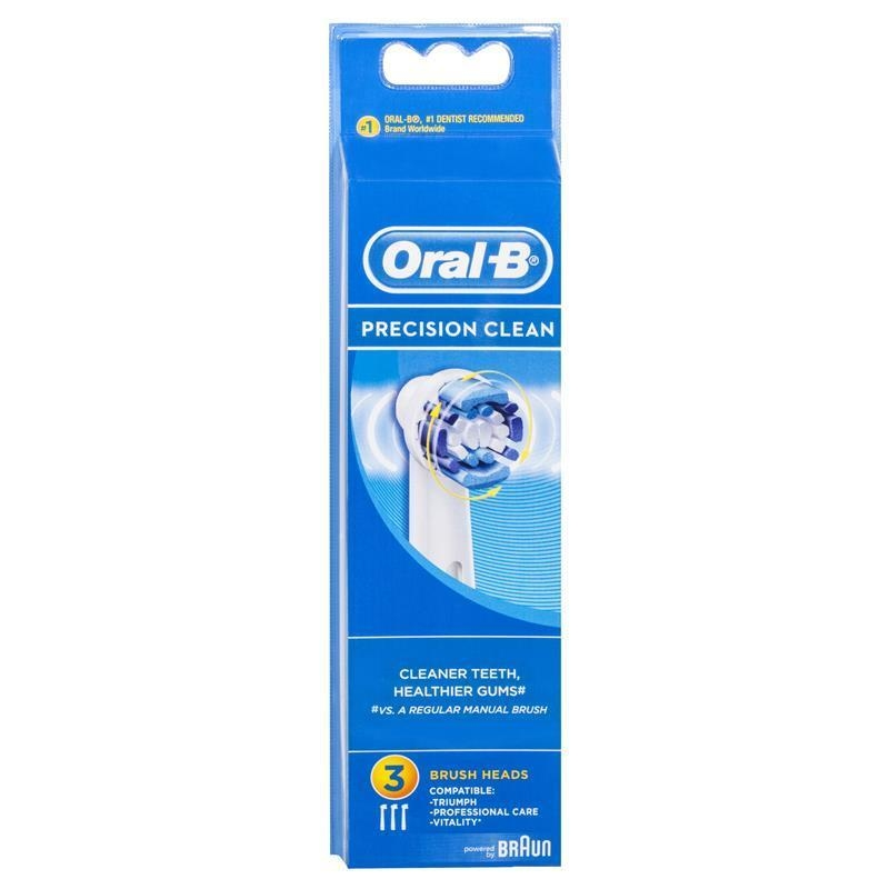 Oral B Precision Clean Replacement Electric Toothbrush Heads 3 Pack
