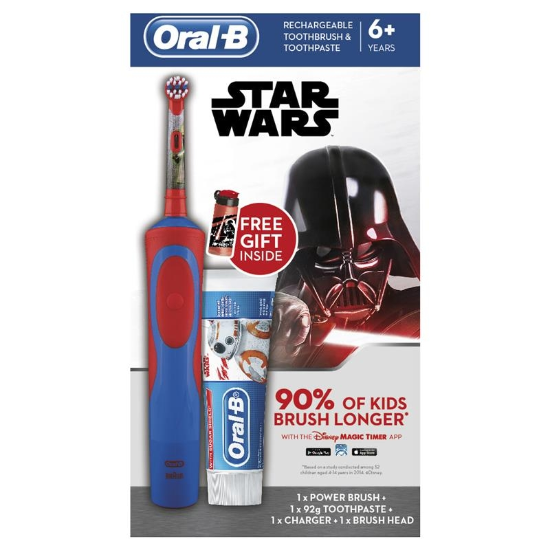Oral B Kids Star Wars Gift Pack Vitality Power Toothbrush + Paste + GWP
