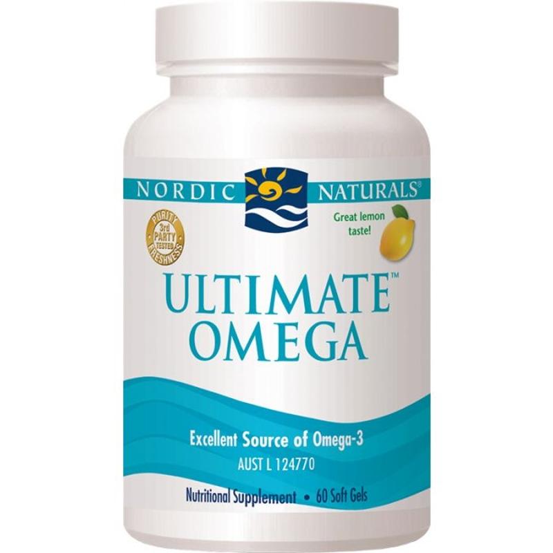 Nordic Naturals Ultimate Omega Lemon Flavour Soft Gels X 60