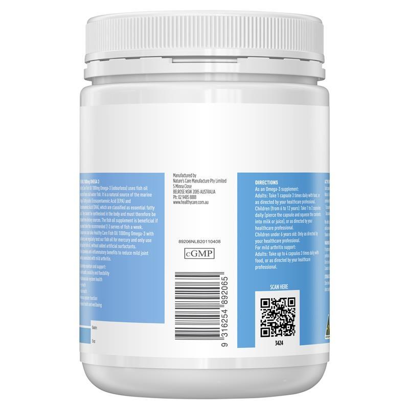 Dầu cá Healthy Care Fish Oil 1000mg Omega 3 400 Capsules
