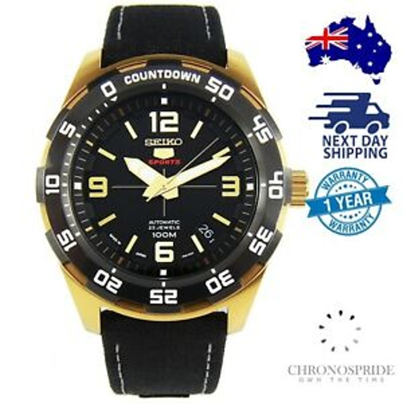 SEIKO 5 Sports SRPB86 SRPB86J Automatic Stainless Gold JAPAN Made Mens Watch