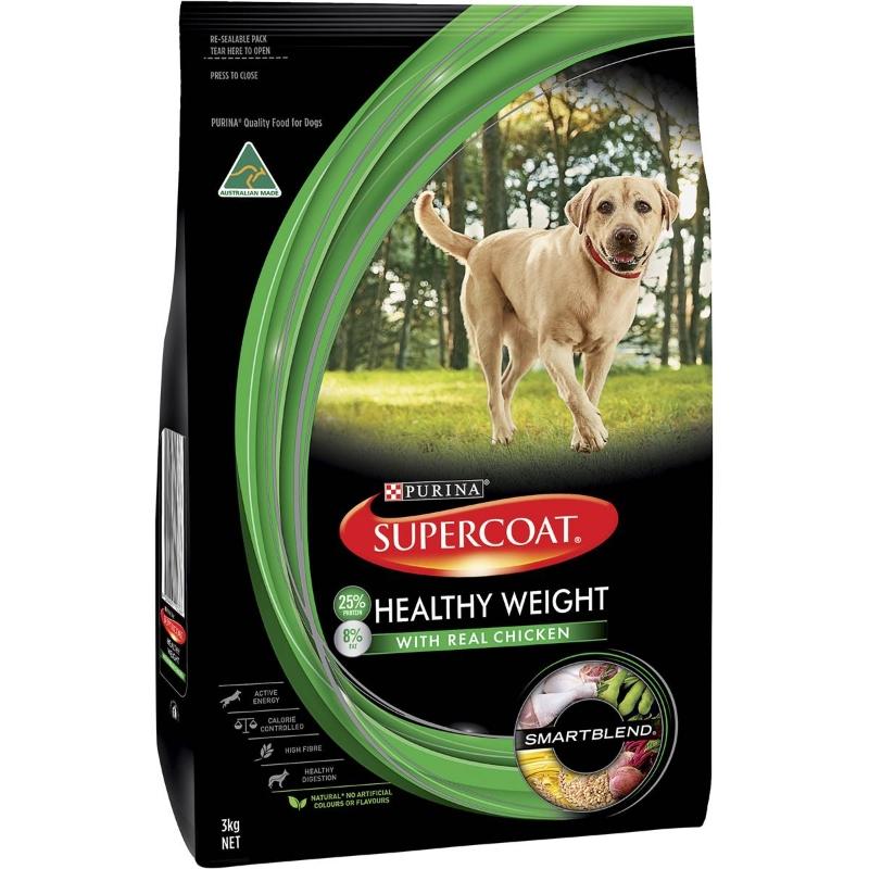 Thức ăn cho chó trưởng thành Supercoat Trọng lượng khỏe mạnh 3kg