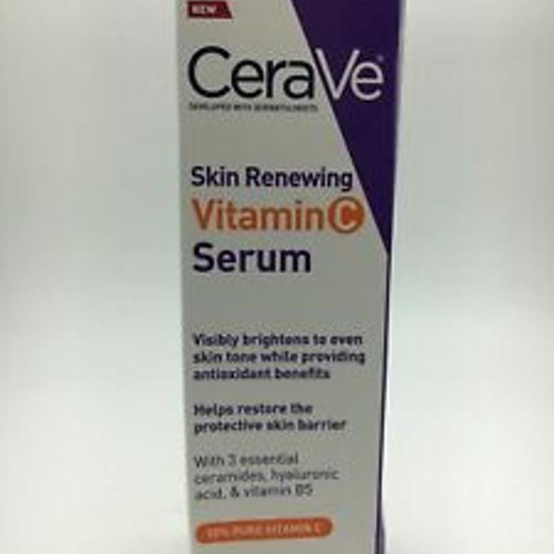 CeraVe Skin Renewing Vitamin C Serum 1 oz Restore & Protect, New Sealed C41 C