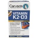 Carusos Vitamin K2 + D3 60 Capsules