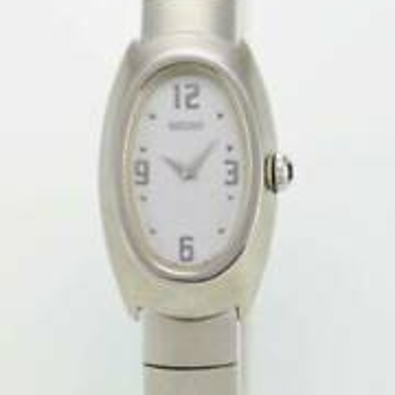 Seiko Watch Womens Stainless Steel Silver Water Resistant Battery White Quartz