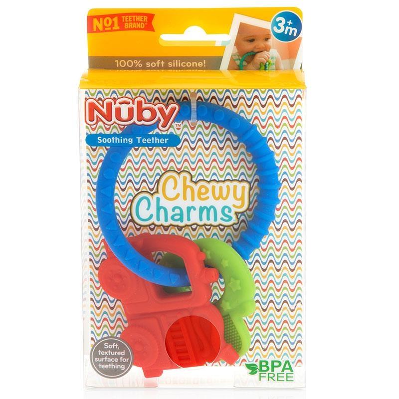 Gặm nướu Nuby Chewy Charms Silicone Teether