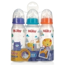 Combo 3 bình sữa - Nuby Printed Non Drip Feeding Bottles 240ml 0+ Months 3 Pack