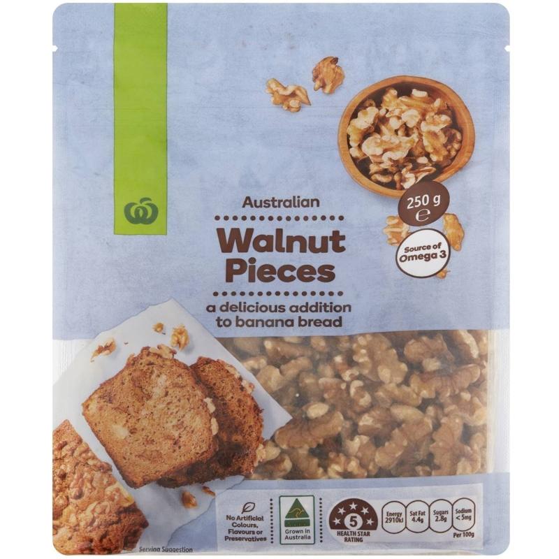 Hạt óc chó Woolworths Walnuts Pieces 250g