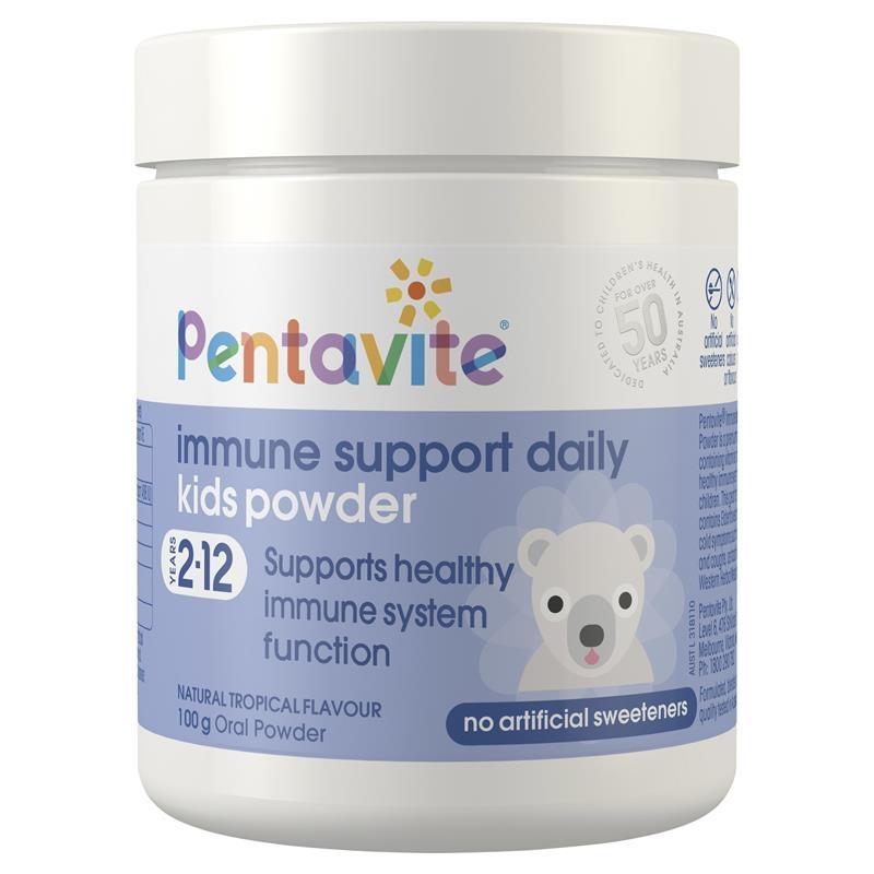 Pentavite Immune Support Daily Kids Powder 100g