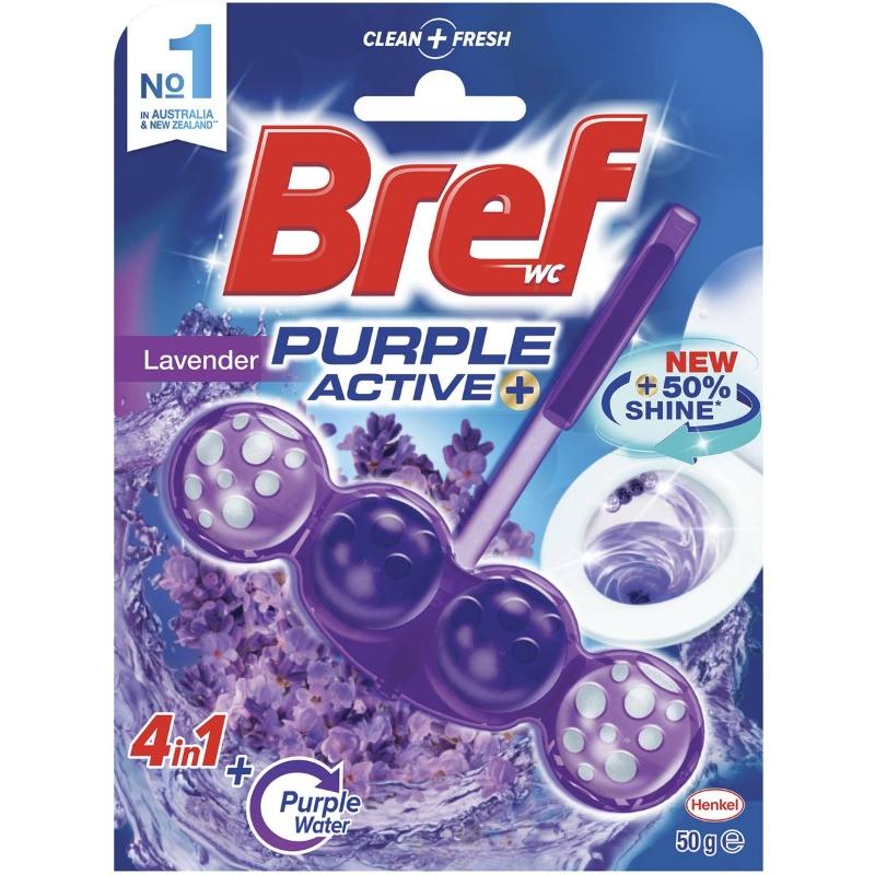 Viên tẩy bồn cầu Bref Purple Active Lavender 50g