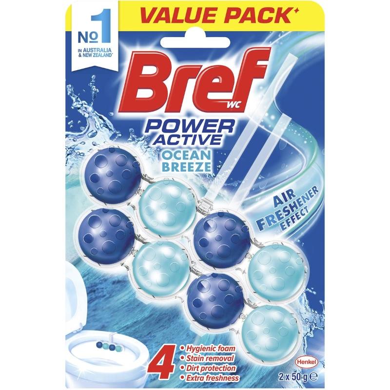 Viên tẩy bồn cầu Bref Power Active Ocean Breeze 2x50g