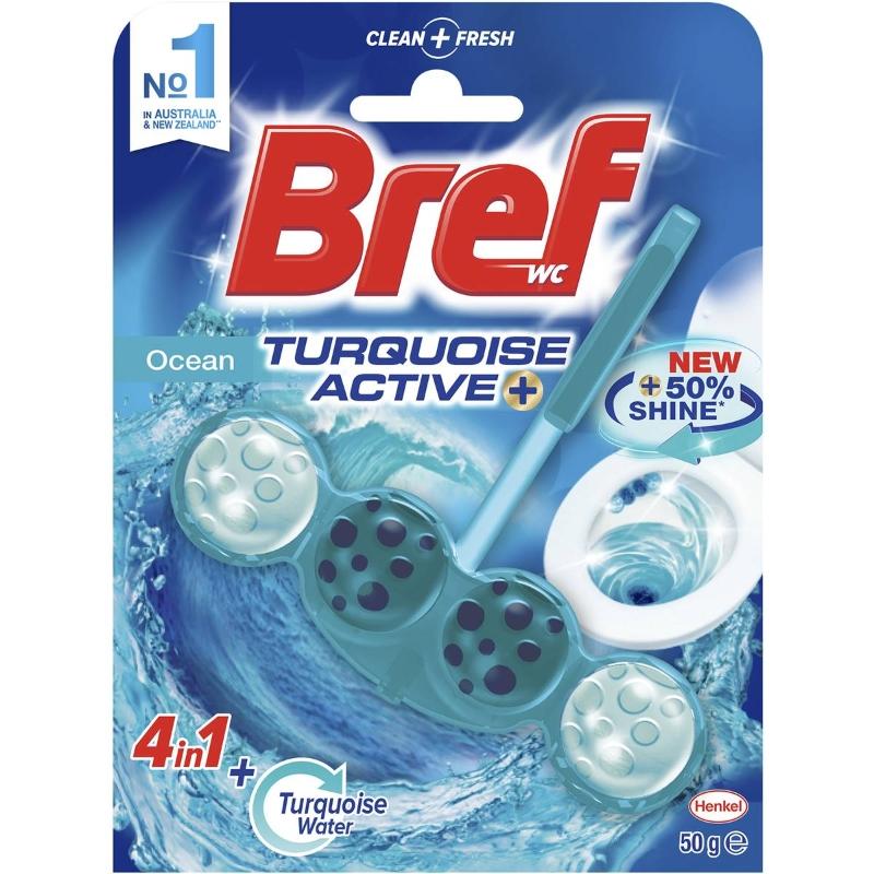 Viên tẩy bồn cầu Bref Turquoise Active Ocean 50g
