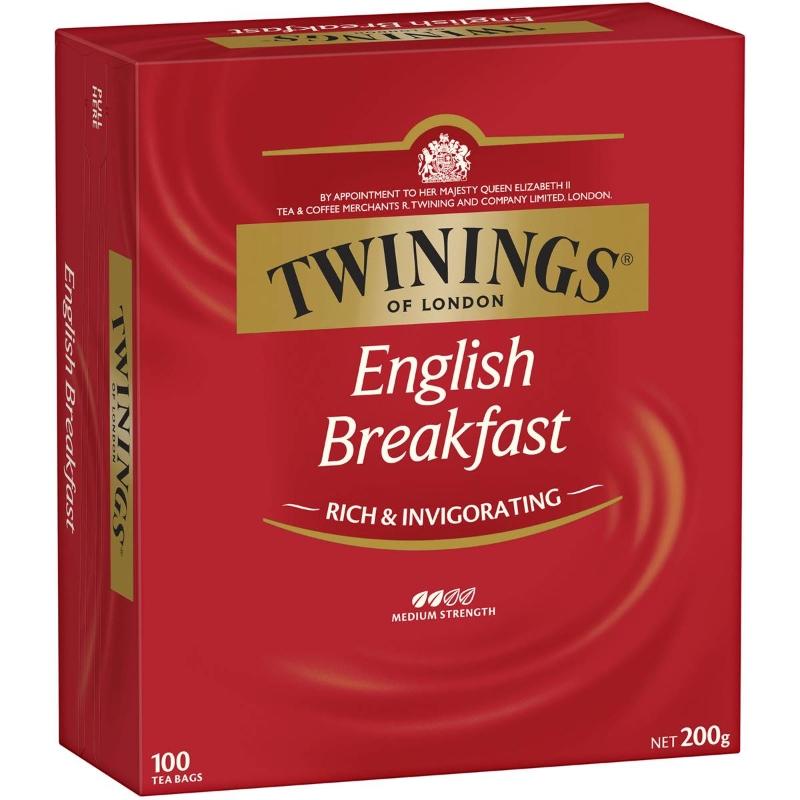 Túi trà ăn sáng kiểu Anh Twinings 100pk 200g