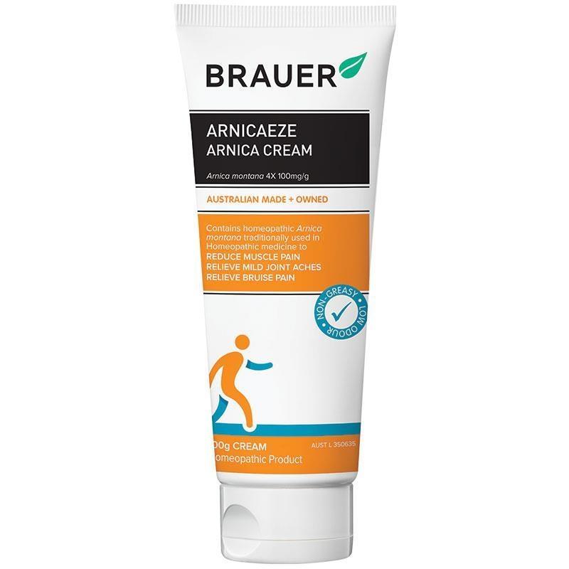 Kem trị đau khớp và cơ cho người lớn và trẻ em Brauer Arnicaeze Cream 100g