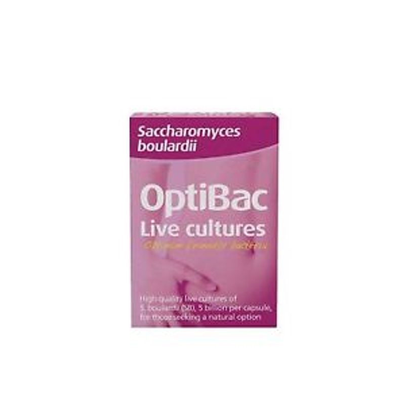 Optibac Probiotics Saccharomyces boulardii - 16 Capsules