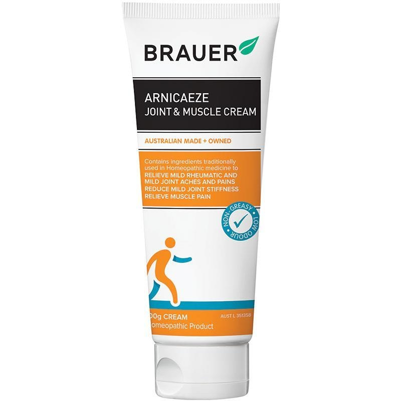 Kem trị đau khớp và cơ cho người lớn và trẻ em Brauer Arnicaeze Joint & Muscle Cream 100g