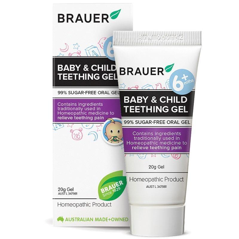 Gel giảm đau răng cho bé Brauer Baby & Child Teething Gel 20g