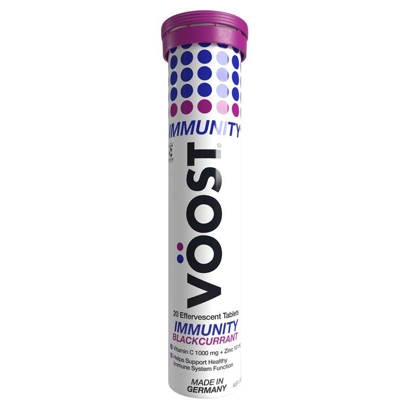 Viên sủi tăng cường miễn dịch - Voost Immunity Blackcurrant Effervescent Tablets 20 Pack