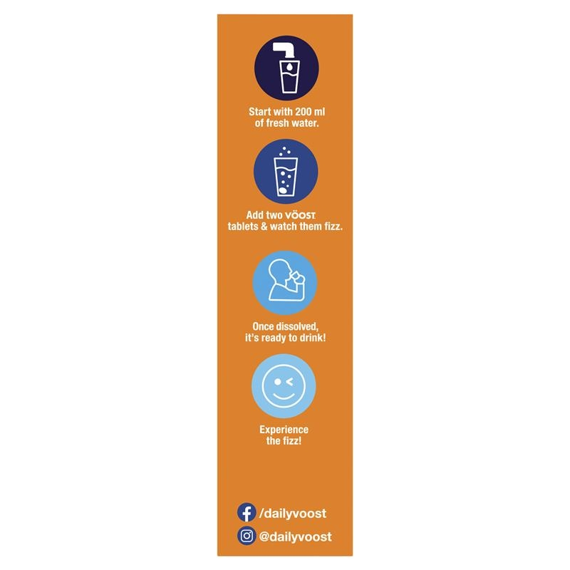 Viên sủi Voost Hydrate Orange Effervescent Tablets 60 Pack Exclusive Size