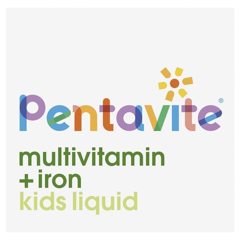 Vitamin tổng hợp + sắt Pentavite Multivitamins with Iron Kids Oral Liquid 200mL
