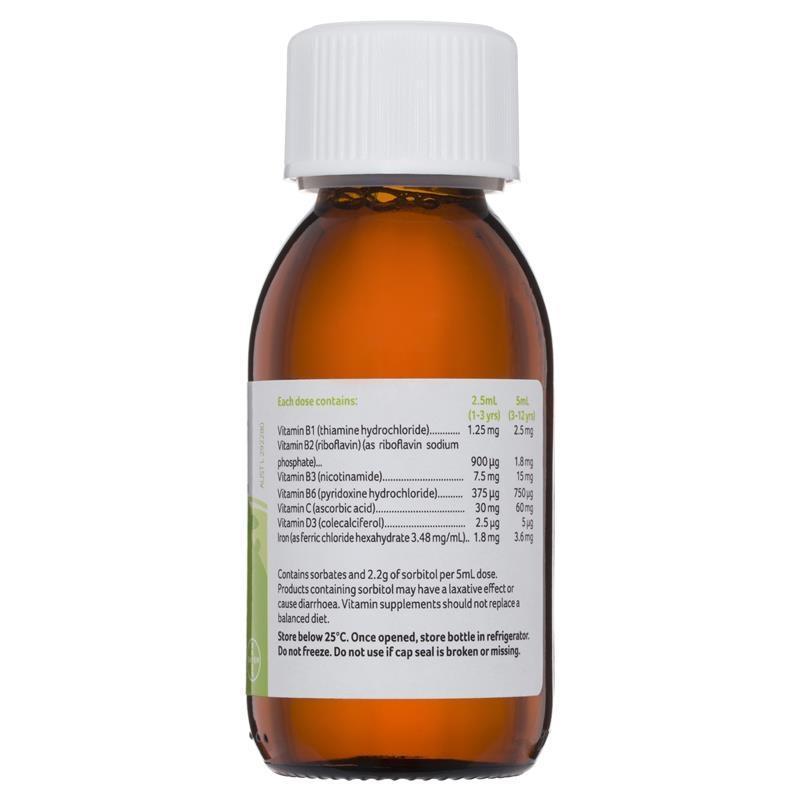 Vitamin tổng hợp + sắt Pentavite Multivitamins with Iron Kids Oral Liquid 100mL