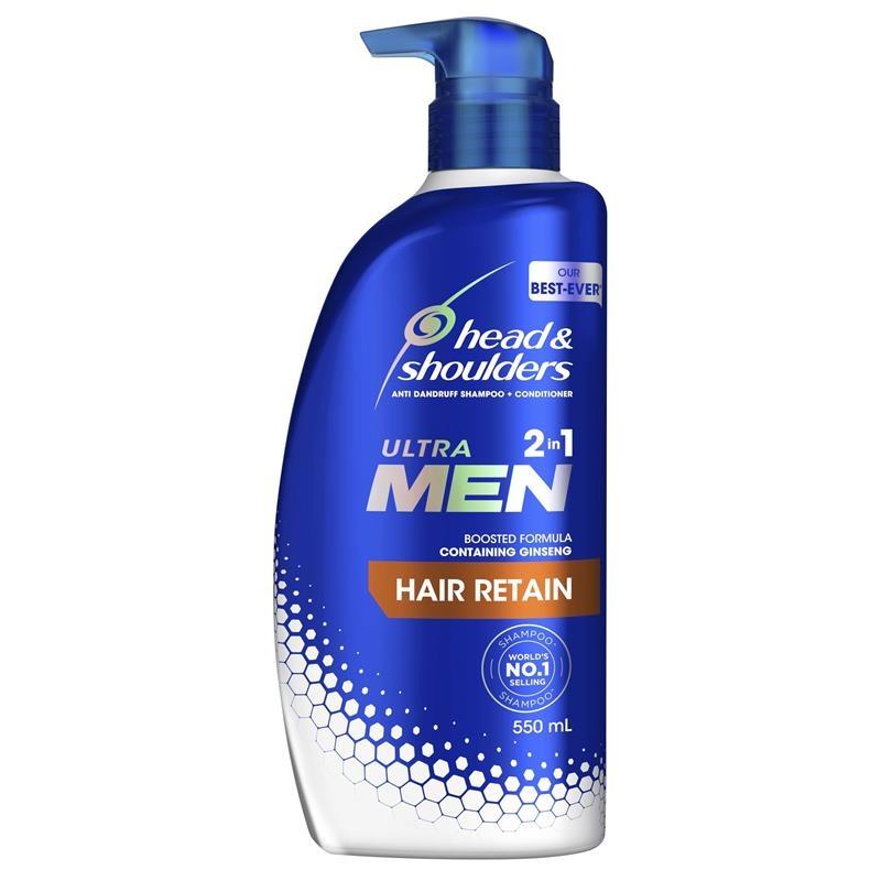 Head & Shoulders Ultramen 2in1 Hair Retain 550ml