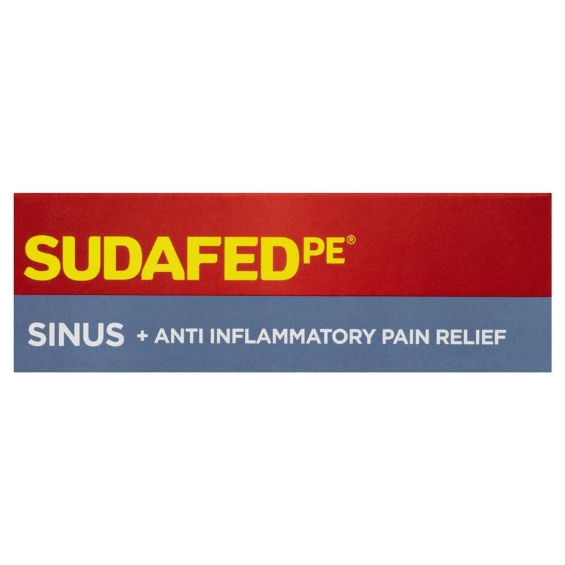 Sudafed PE Sinus + Anti Inflammatory Pain Relief 48 Tablets