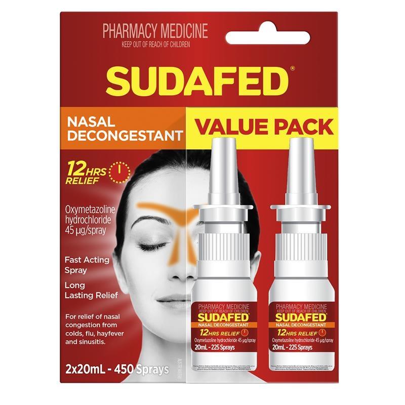 Sudafed Nasal Spray Pump Twin Pack