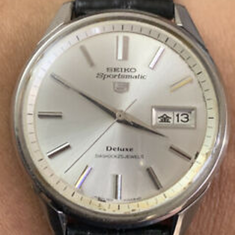 1966 Seiko 5 Sportsmatic Deluxe 25J Automatic Vintage Mens Watch