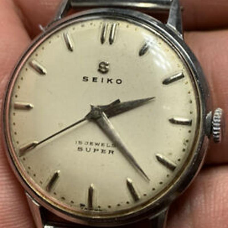 Seiko Super 15J Manual Winding Vintage Watch 30.8mm S13024