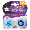 Tommee Tippee CTN Night Time Soother 6 to 18 Months X 2 (Assorted Designs/Colours)