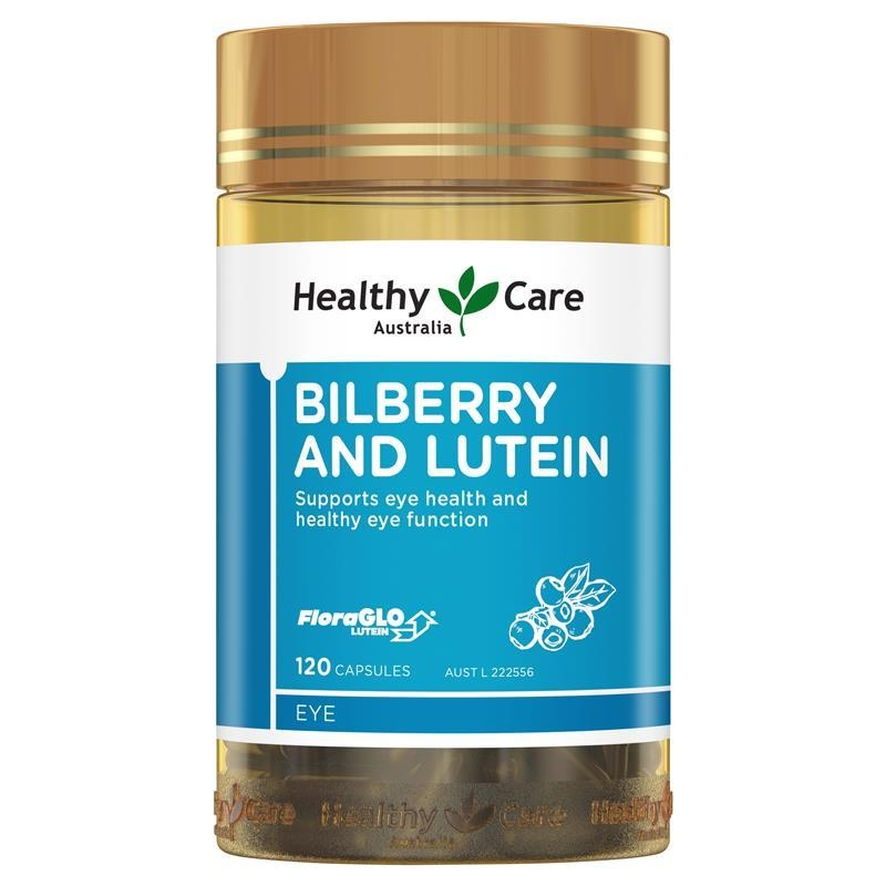 Viên uống bổ mắt Healthy Care Bilberry & Lutein 120 Capsules