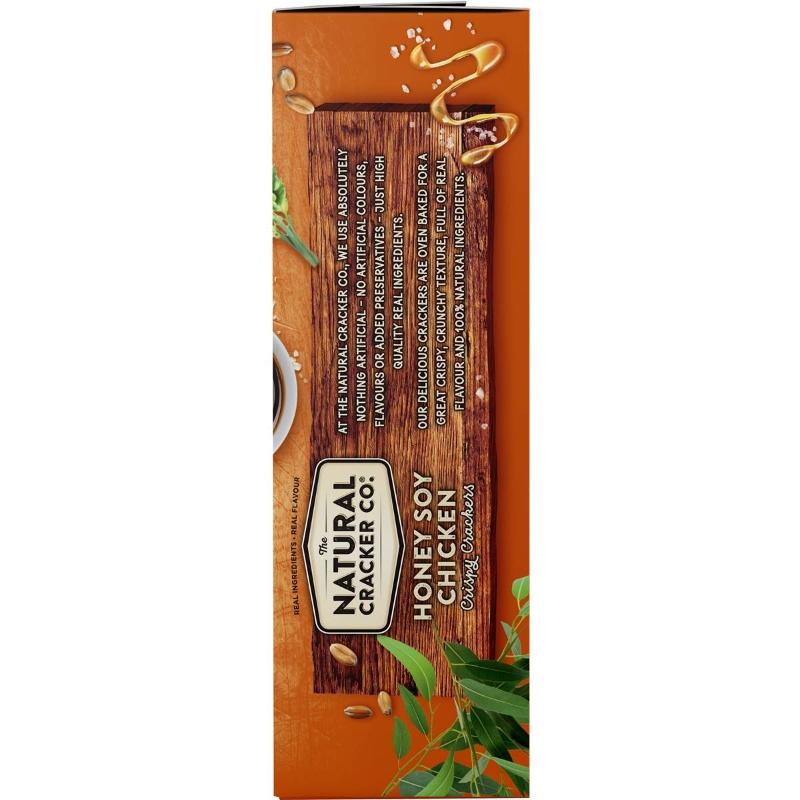 Bánh quy The Natural Cracker Co. Honey Soy Chicken Crispy Crackers 160g