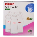 Pigeon Softtouch Peristaltic Plus PP Bottle 330ml (Triple Pack)