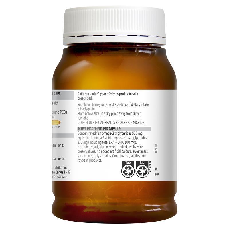 Viên uống hỗ trợ tim mạch - Blackmores Odourless Fish Oil 400 Mini Capsules
