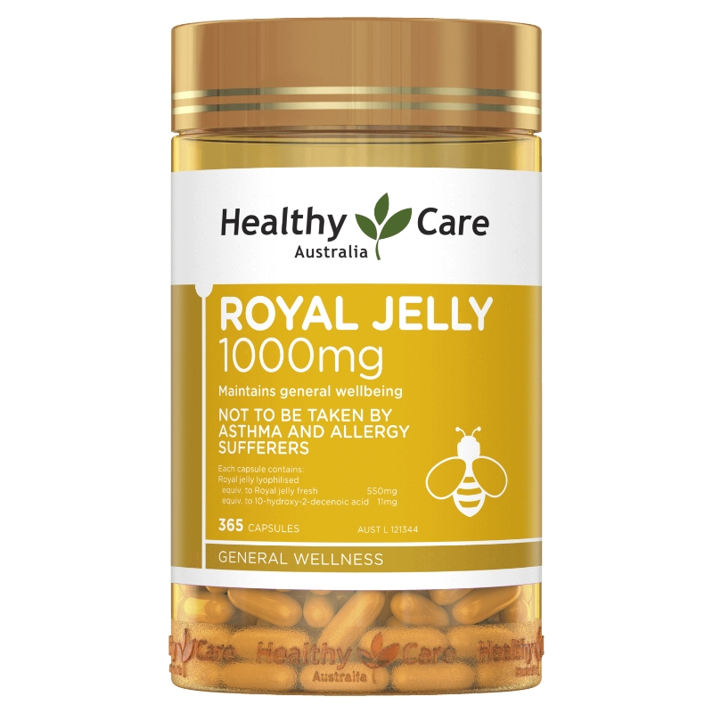 Sữa ong chúa Healthy Care Royal Jelly 1000mg 365 Capsules