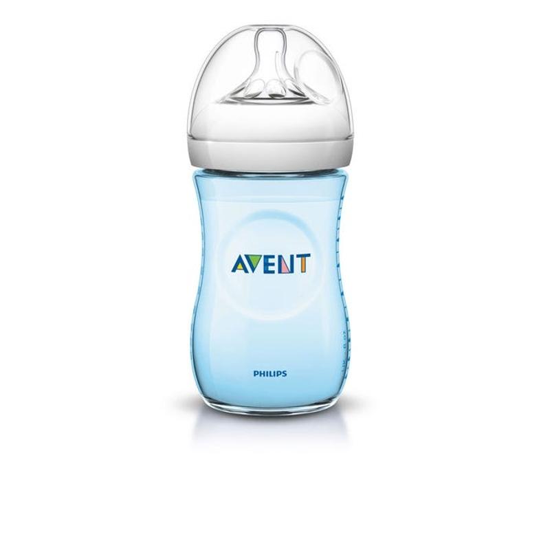 Avent Natural Feeding Bottle (Blue) 260ml X 2