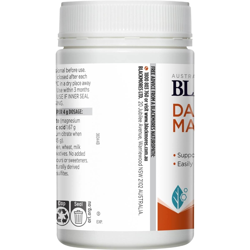 Bột uống bổ sung magie Blackmores Daily Magnesium Powder 150g