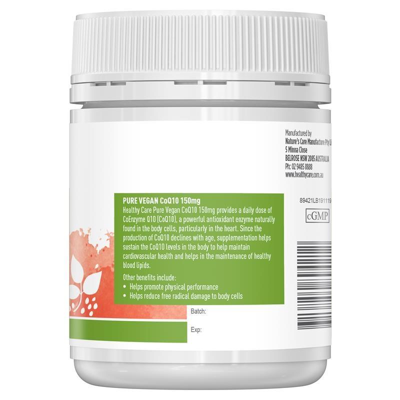 Healthy Care Pure Vegan CoQ10 150mg 60 Capsules