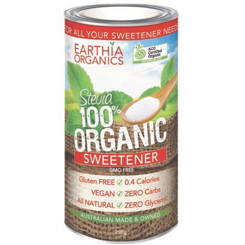 Đường cỏ ngọt hữu cơ Earthia Organics 100% Organic Stevia Sweetener 350g