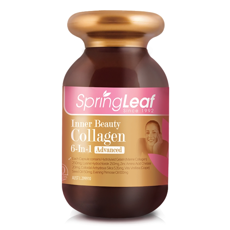 Spring leaf Inner Beauty Collagen 6-in-1 Advanced 90 Capsules