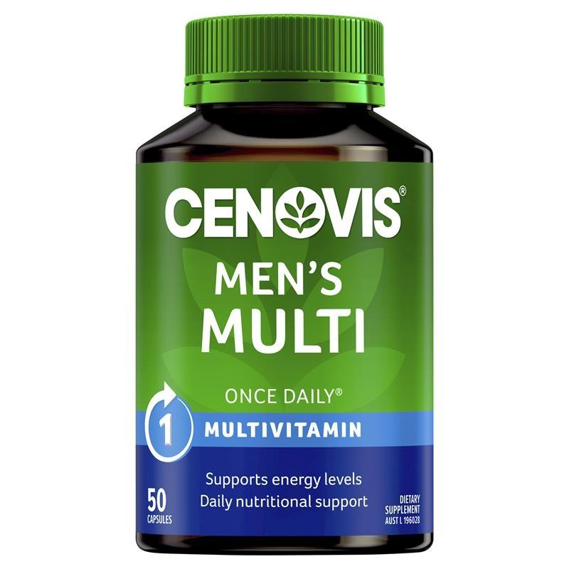 Cenovis Men's Multi - Once-Daily Multivitamin - 50 Capsules