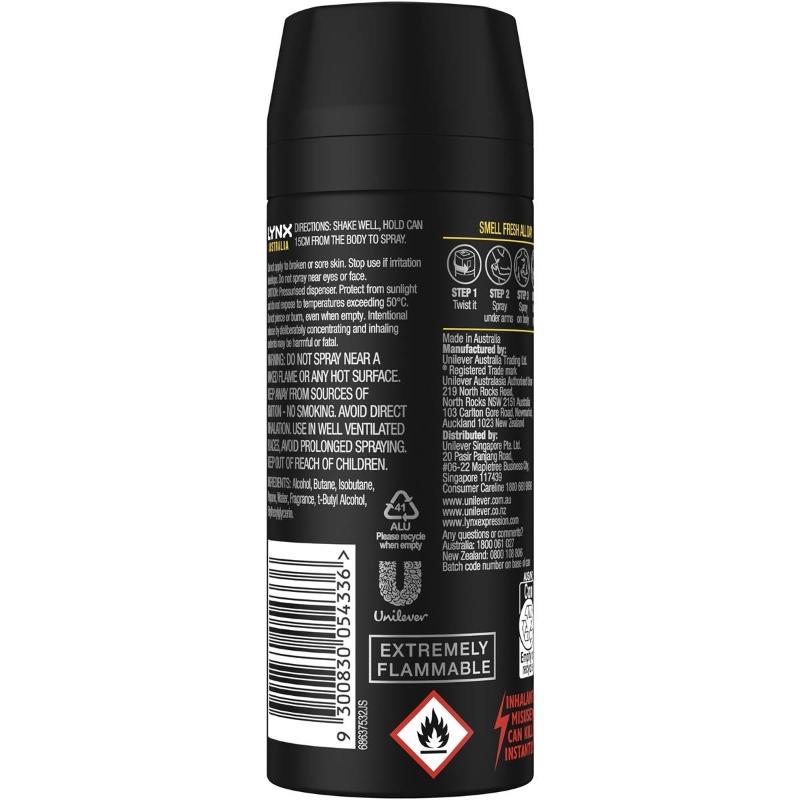 Xịt khử mùi Lynx Australia Deodorant Bodyspray 165ml