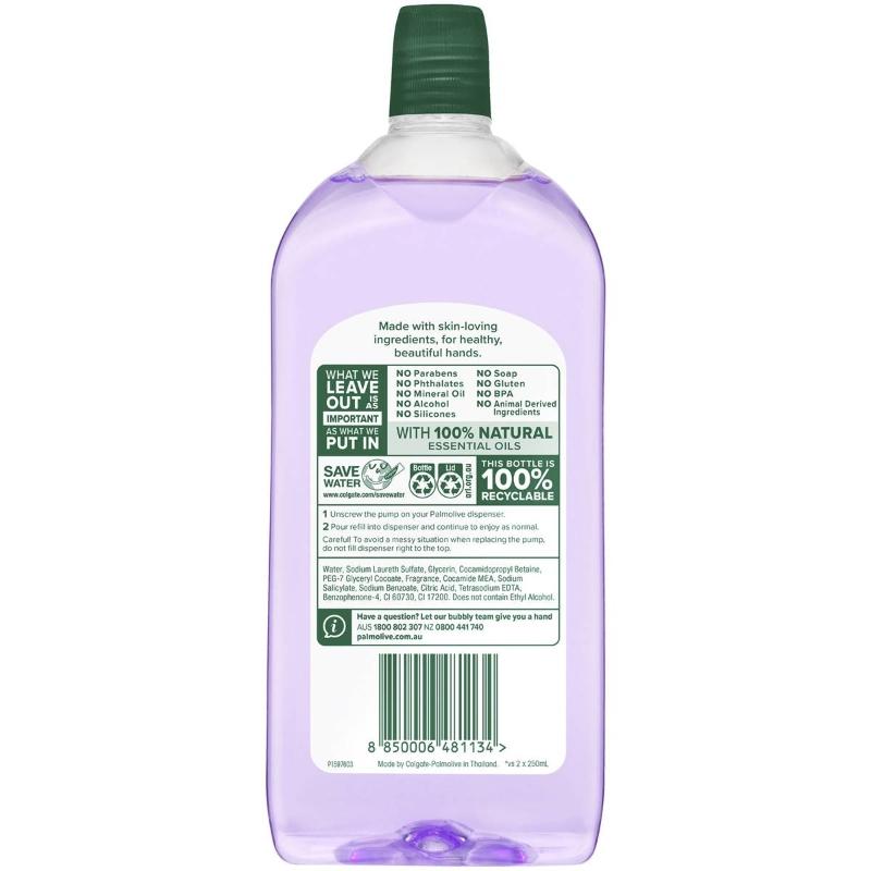 Nước rửa tay Palmolive Foaming Liquid Hand Wash Soap Vanilla & Berry Refill 500ml hương vani và quả mọng