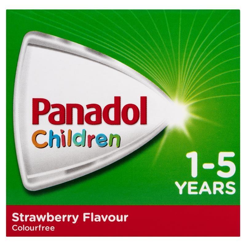 Siro hạ sốt & giảm đau cho bé từ 1- 5 tuổi - Panadol Children 1-5 Years Suspension Fever & Pain Relief Strawberry Flavour 200mL