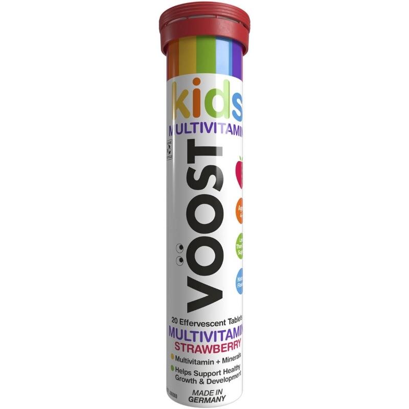 Viên sủi tăng cường miễn dịch - Voost Kids Immunity Blackcurrant Effervescent Tablets 20 pack