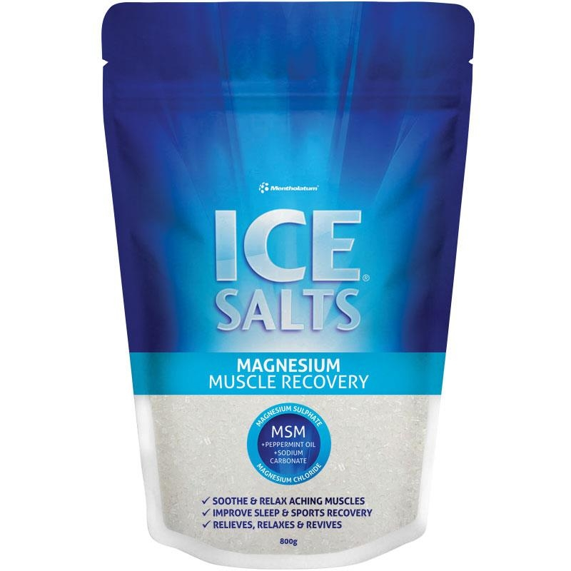 Mentholatum Ice Salts Magnesium Muscle Recovery 800g