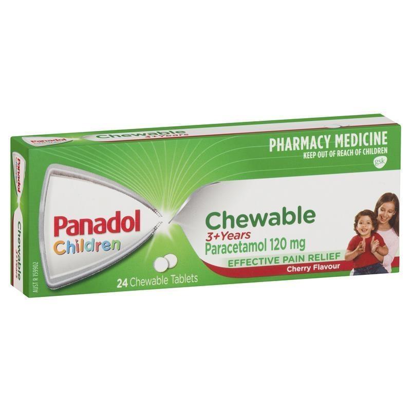Viên nhai giảm đau cho trẻ từ 3 tuổi - Panadol Children Chewable Tablets 3 Years+ 24 Tablets