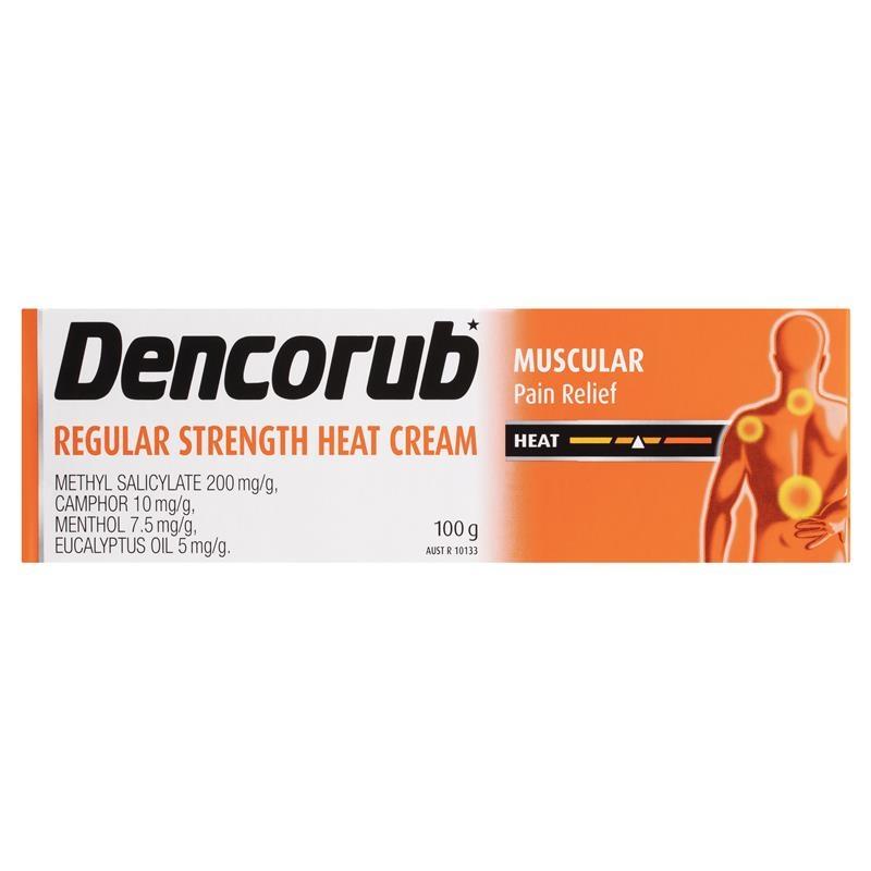 Dencorub Regular Strength Heat Cream 100g Tube